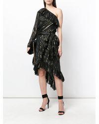 Philosophy Di Lorenzo Serafini - Black Asymmetric Flared Dress - Lyst