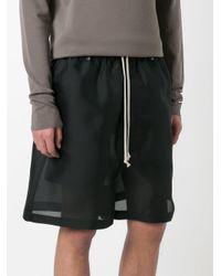Rick Owens - Black Drawstring Shorts for Men - Lyst