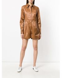 Bottega Veneta - Brown Work Wear Playsuit - Lyst
