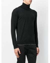 Eleventy - Black Turtleneck Jumper for Men - Lyst