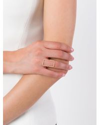 Diane Kordas | Metallic Diamond Rectangle Outline Ring | Lyst