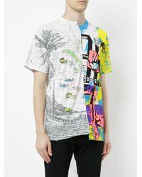 EX Infinitas - Multicolor Repurposed Duo Print T-shirt for Men - Lyst