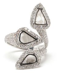 Saqqara - Metallic 'trinity' Diamond Ring - Lyst