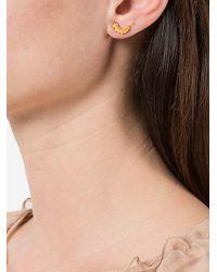 Astley Clarke - Metallic 'mini Olive Crown Biography' Stud Earrings - Lyst