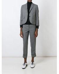 Thom Browne - Gray Classic Single Breasted Sport Coat In Medium Grey 2-ply Wool Fresco - Lyst