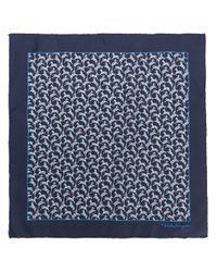 Ferragamo - Blue Small Square Scarf - Lyst