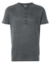 Majestic Filatures Gray Short-sleeve Fitted Top for men