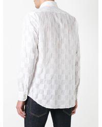 Etro - White Checked Shirt for Men - Lyst
