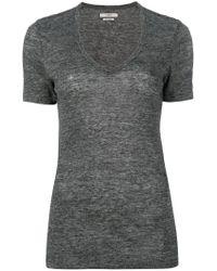 Étoile Isabel Marant - Gray V-neck T-shirt - Lyst