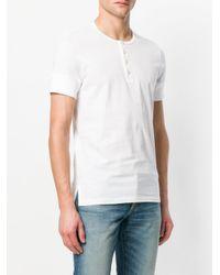 Tom Ford - White Henley T-shirt for Men - Lyst