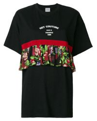 BROGNANO - Black Ruffled T-shirt - Lyst