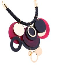 Marni - Metallic Horn Disc Pendant Necklace - Lyst