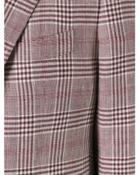 Kiton - Red Sartoria Blazer for Men - Lyst