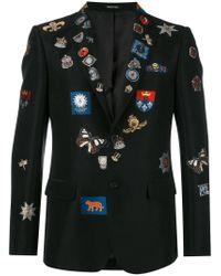 Alexander McQueen | Black Badge Appliqué Blazer for Men | Lyst