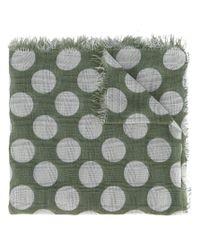 Faliero Sarti - Green Polka-dot Scarf - Lyst