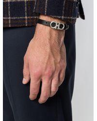 Ferragamo - Black Double Gancini Bracelet for Men - Lyst