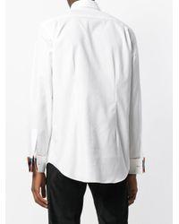 Paul Smith - White Tucked Panel Shirt for Men - Lyst