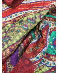Etro Red Printed Scarf for men
