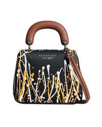Burberry - Black Small Dk88 Splash Top Handle Bag - Lyst