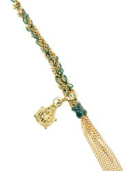 Carolina Bucci - Green 'ladybird' Woven Gold And Silk Bracelet - Lyst