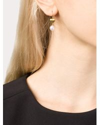 Marie-hélène De Taillac - White 22kt Gold Heart And Pearl Earrings - Lyst