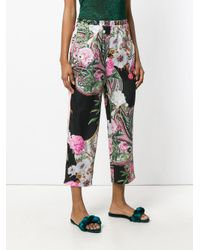 Blugirl Blumarine - Multicolor Floral Paisley Print Cropped Trousers - Lyst
