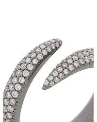 Eva Fehren - Metallic Pave Wrap Claw Ring - Lyst