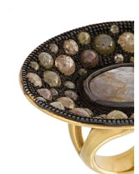 Loree Rodkin - Black Diamond Disc Ring - Lyst