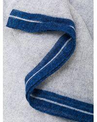Dell'Oglio - Gray Woven Stripe Scarf for Men - Lyst