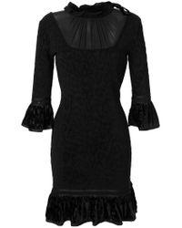 Roberto Cavalli - Black Flared Dress - Lyst