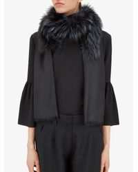 Fendi - Black Touch Of Fur Stole Touch Of Fur Stole - Lyst
