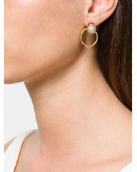 DSquared² - Metallic Pearl Hoop Earrings - Lyst