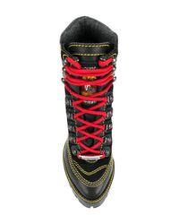 DSquared² - Black Lace Up Platform Boots - Lyst