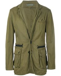 Di Liborio - Green Worn Effect Blazer for Men - Lyst