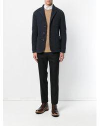 Barena | Blue Houndstooth Pattern Blazer for Men | Lyst