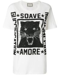 Gucci - White Soave Amore Fication Print T-shirt - Lyst