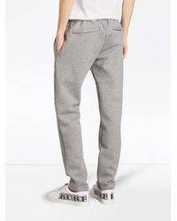 Burberry - Gray Embroidered Logo Sweatpants for Men - Lyst