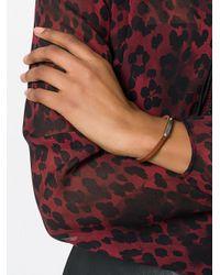 Saint Laurent - Brown Logo Id Bracelet - Lyst