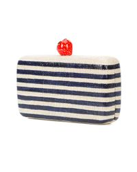Kayu - Blue Striped Strawberry Clutch Bag - Lyst