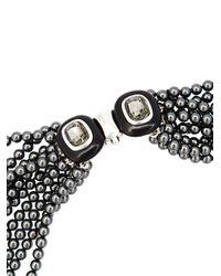 Oscar de la Renta | Gray Multi Strand Pearl Necklace | Lyst