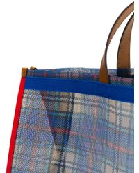 P.A.R.O.S.H. - Blue Checked Tote - Lyst