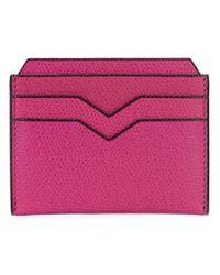 Valextra - Pink Flat Cardholder for Men - Lyst
