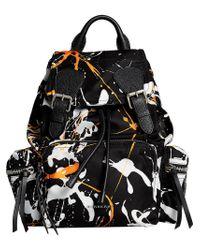Burberry - Black Medium Rucksack Backpack - Lyst