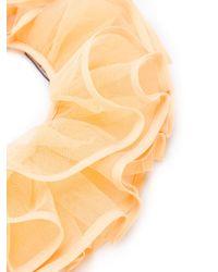 Nina Ricci - Multicolor Ruffle Neck Tie Scarf - Lyst