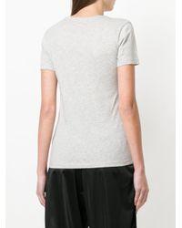 DIESEL - Gray Lipstick-print T-shirt - Lyst