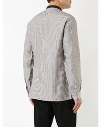 Raf Simons - Brown Striped Shirt for Men - Lyst