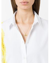 Ileana Makri - Metallic Open Eye Pendant Necklace - Lyst