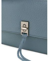Rebecca Minkoff - Blue Twist Lock Crossbody Bag - Lyst