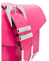 Versus  - Pink Shoulder Bag With Buckle Detail - Lyst