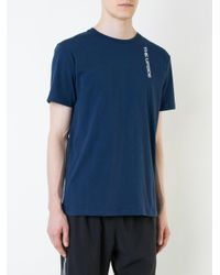 The Upside - Blue Printed Logo T-shirt for Men - Lyst